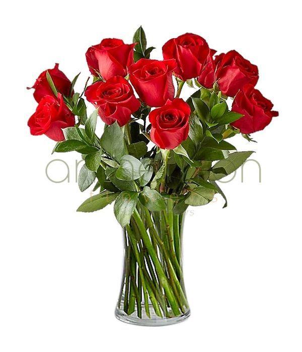 10 κόκκινα τριαντάφυλλα | Αποστολή Λουλουδιών