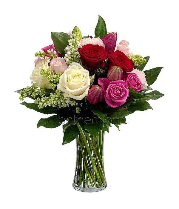 Κλασικά τριαντάφυλλα με λίλιουμ