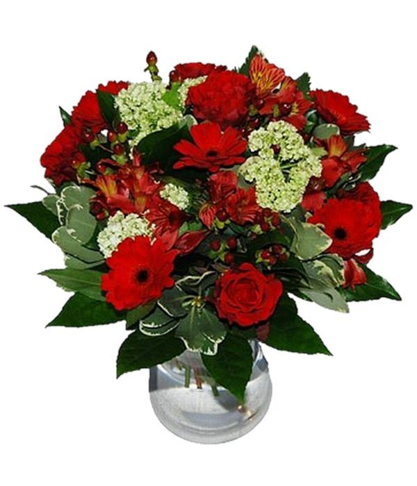 Red bouquet full of passion. Vase is not included