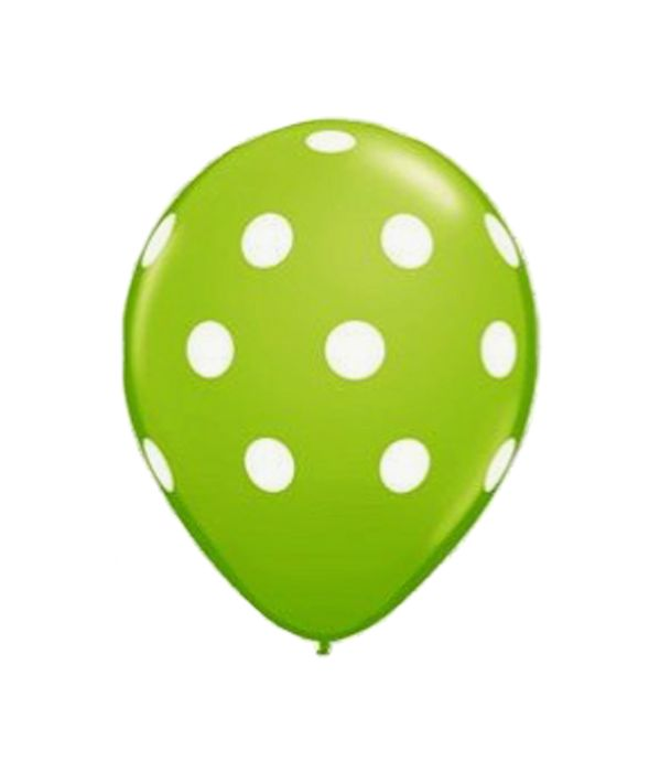 Green polka dots balloon 30cm.
