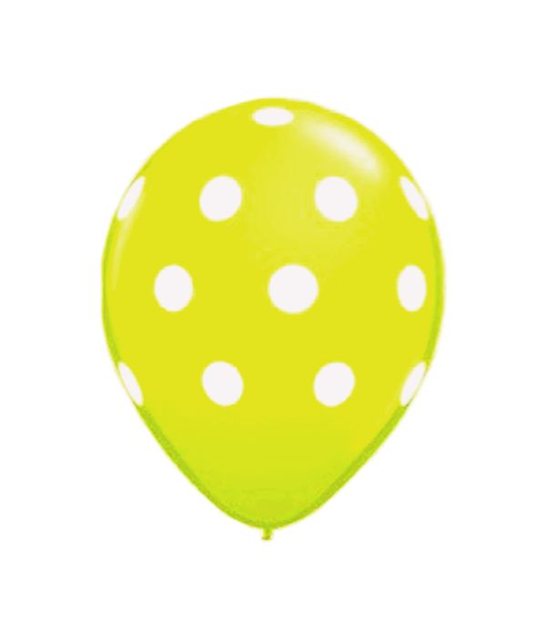 Yellow balloon with dots 25cm.