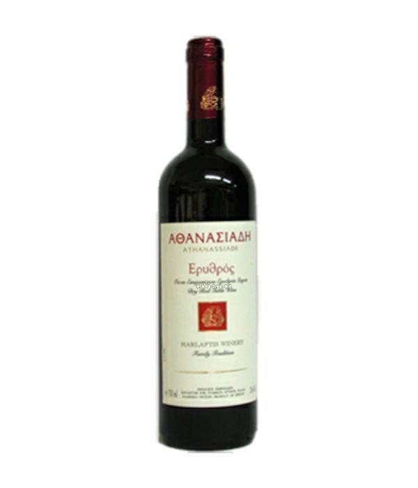 Μπουκάλι με Κόκκινο Κρασί Αθανασιάδης