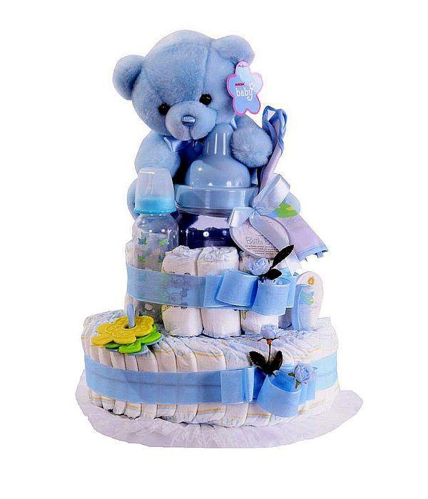 Diapercakes για νεογέννητο αγοράκι σε μαιευτήριο