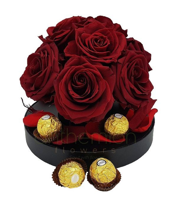 Forever roses and ferrero rocher