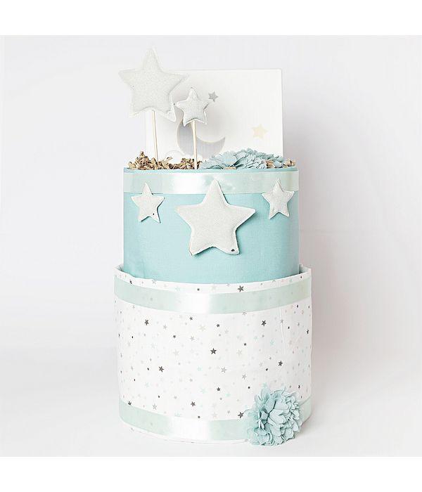 Diaper cake με αστέρια για το νεογέννητο αγοράκι