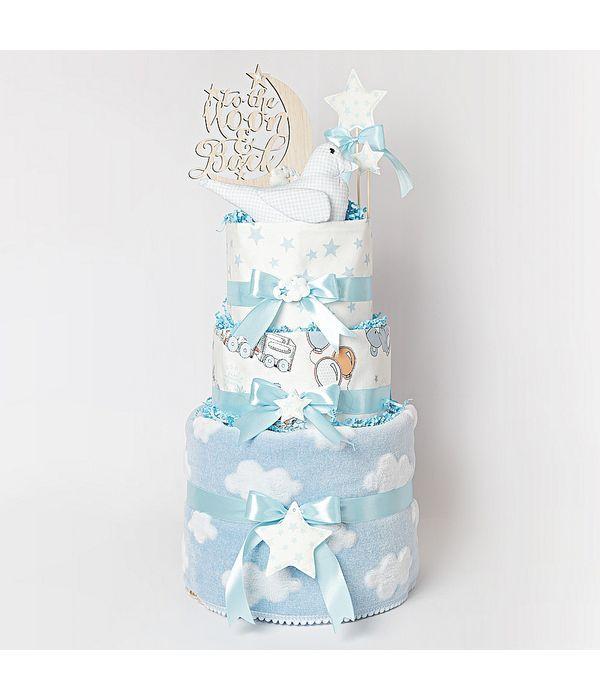 Diaper cake για το αγαπημένο σας νεογέννητο αγοράκι