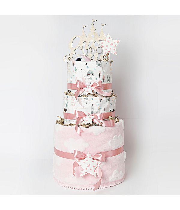 Diaper cake για το αγαπημένο σας νεογέννητο κοριτσάκι