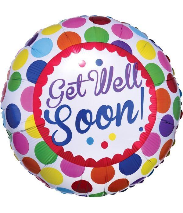 """Στρογγυλό μπαλόνι foil """"Get Well Soon"""" 43εκ."""