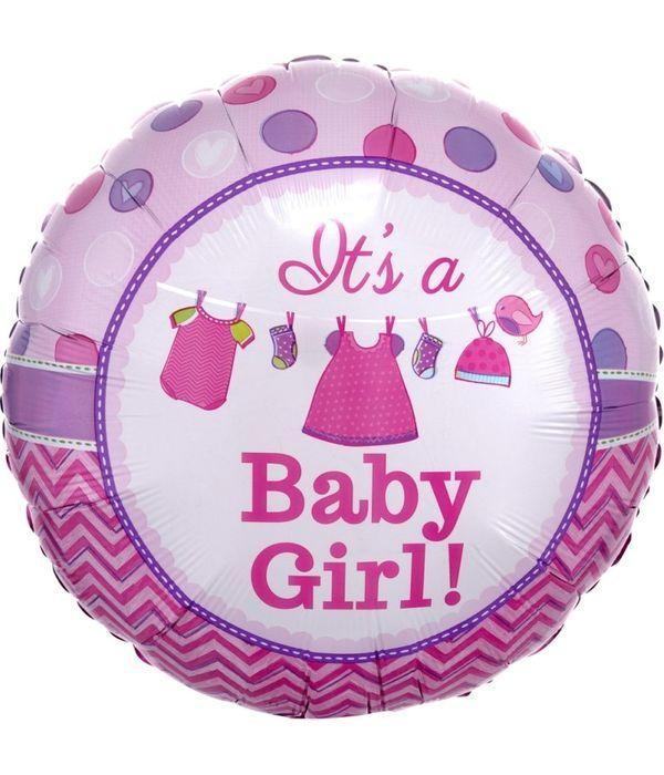 Μπαλόνι foil stick 20 εκ « It's a Baby Girl ».