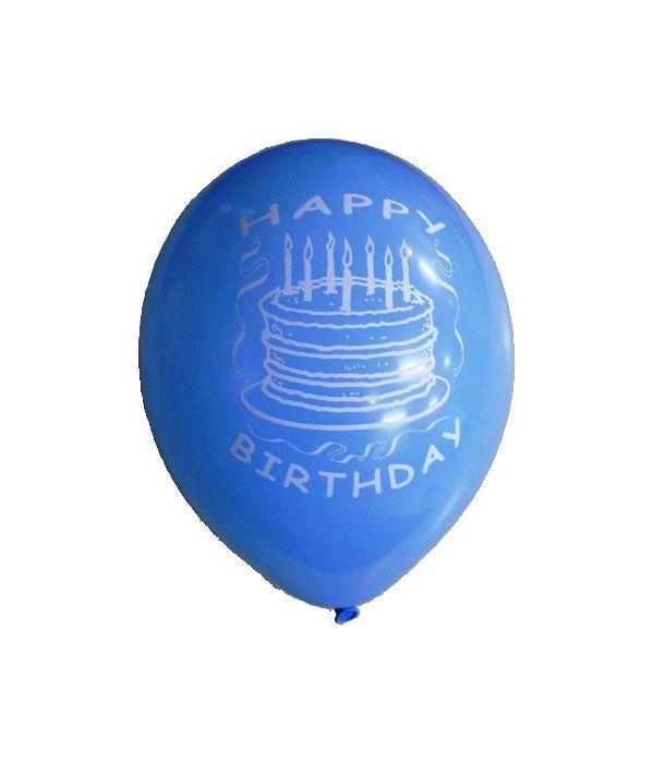 Blue birthday balloon 30cm.
