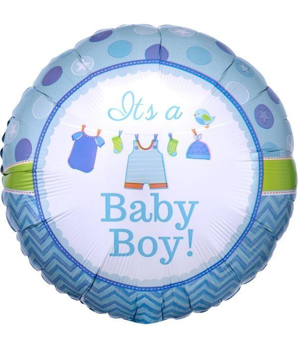 Μπαλόνι με στικ ''Νεογέννητο αγόρι'' 20εκ.