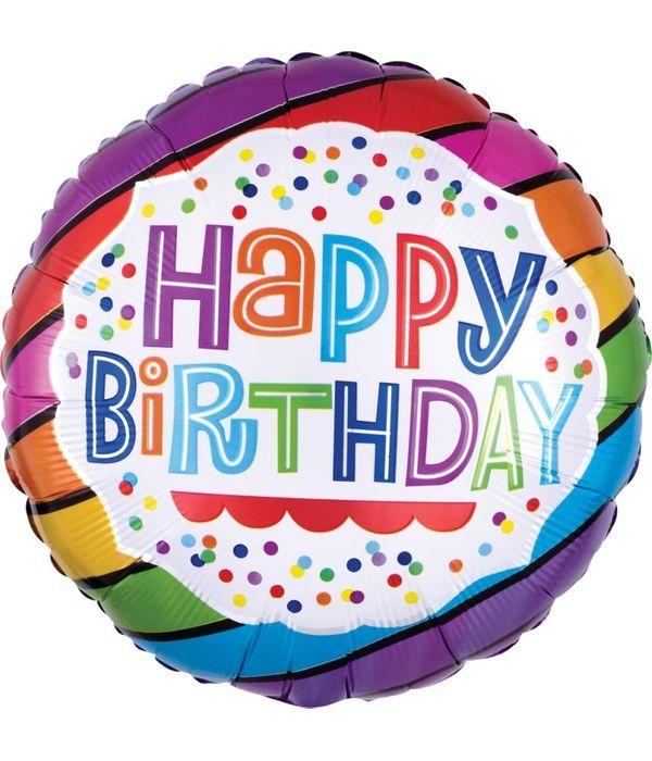 Ευχές γενεθλίων με μπαλόνι 43εκ.