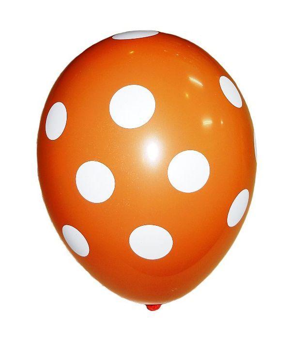 Orange balloon with dots 30cm.