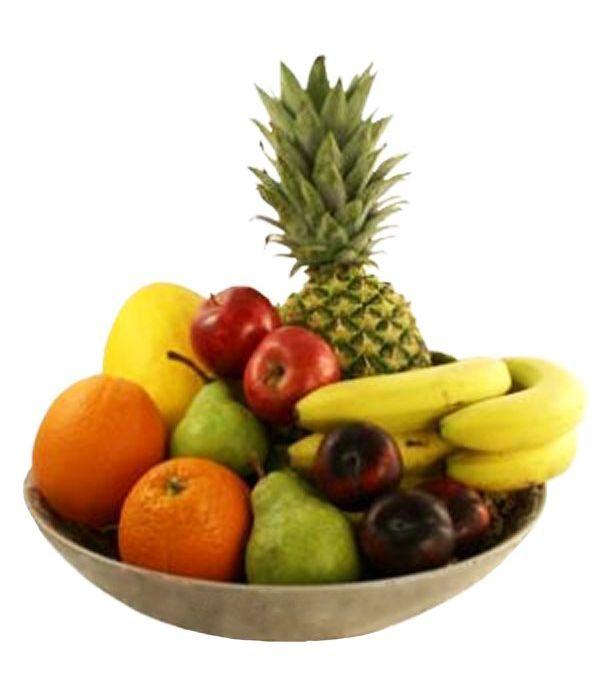 Κεραμική φρουτιέρα με φρούτα