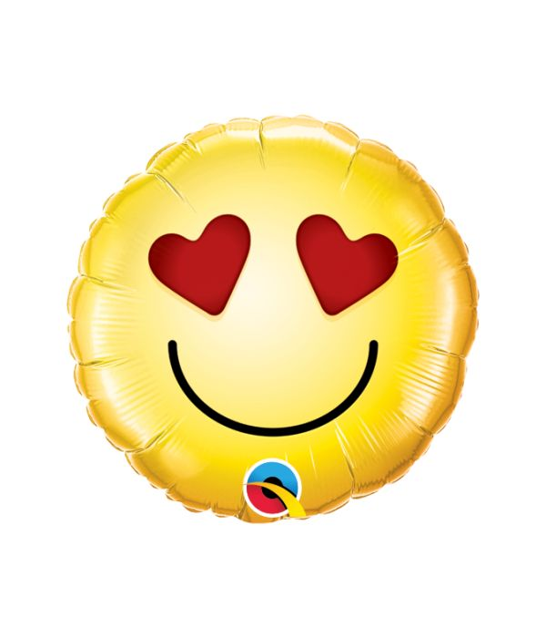 Μπαλόνι foil Emoji με στικ 20εκ.