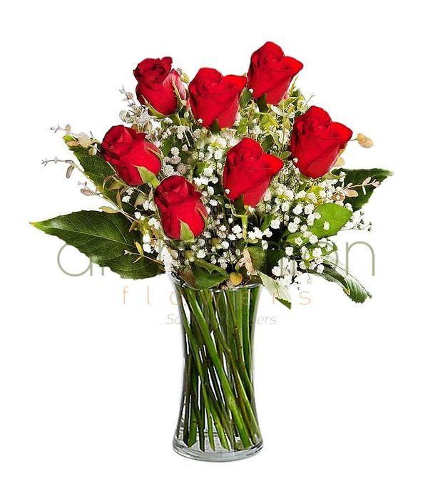 Μπουκέτο με 7 κόκκινα τριαντάφυλλα