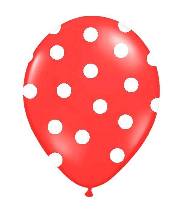 Κόκκινο μπαλόνι με βούλες 30εκ.