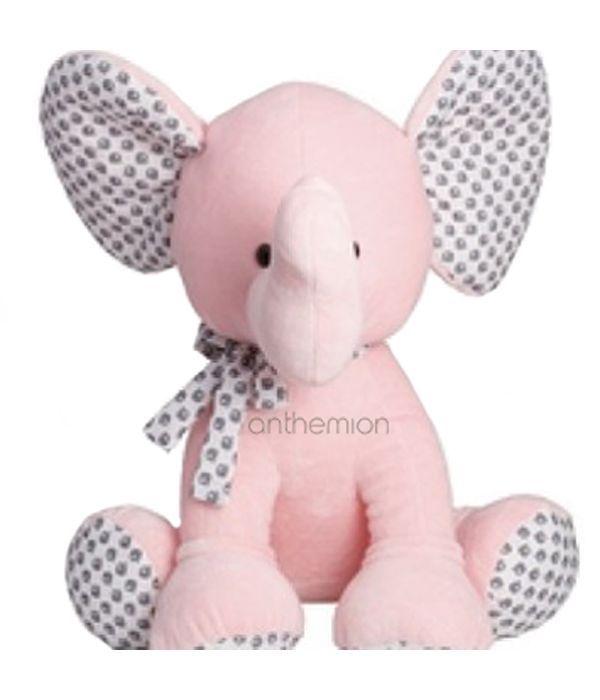 Stuffed pink elephant