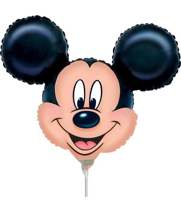 Μπαλόνι Mickey Mouse με στικ 25εκ.