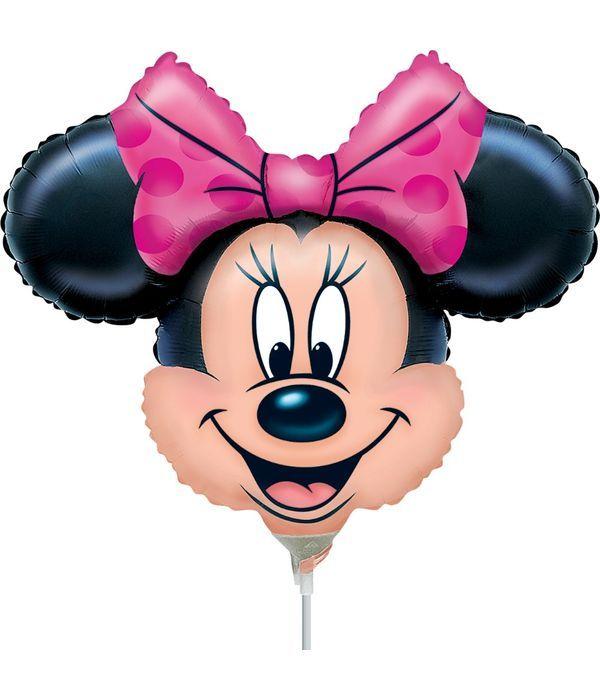 Μπαλόνι Minnie Mouse με στικ 25εκ.