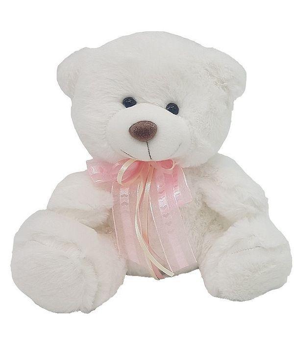 Αρκουδάκι με ροζ φιόγκο 20εκ.