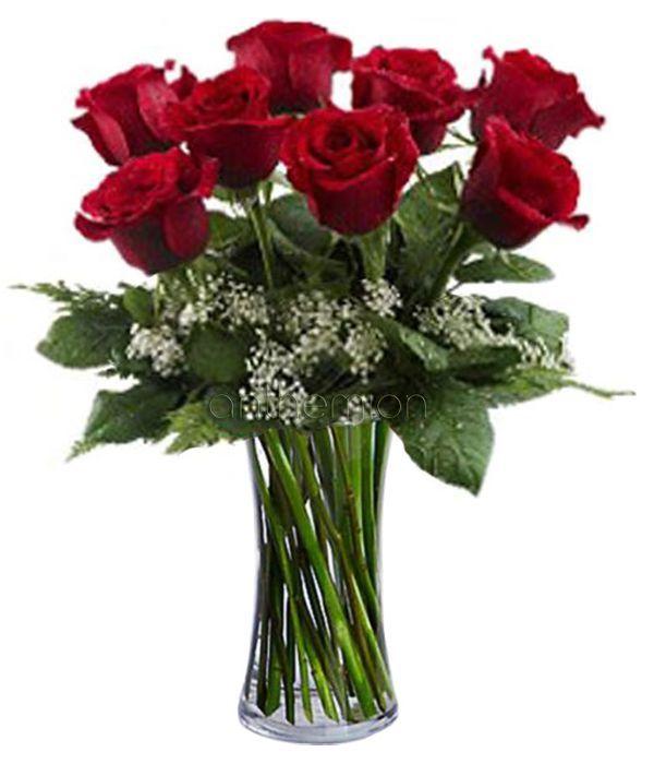 8 κόκκινα τριαντάφυλλα