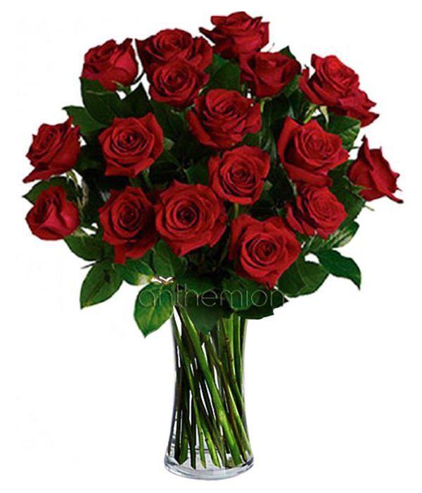 Μπουκέτο με 18 κόκκινα τριαντάφυλλα