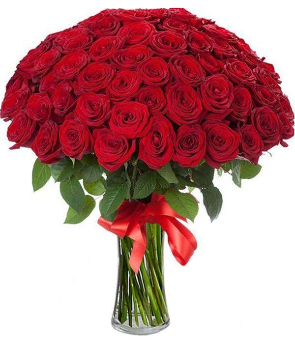 100 κόκκινα τριαντάφυλλα