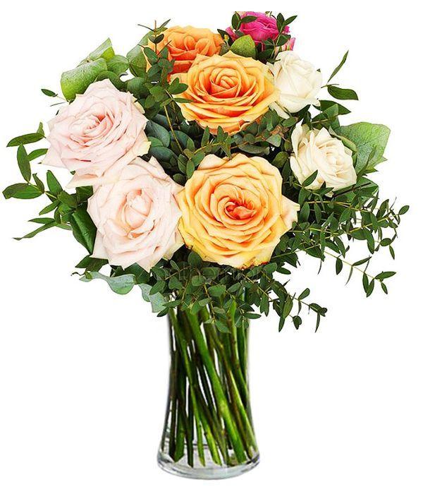 Ζεστή αγκαλιά με τριαντάφυλλα