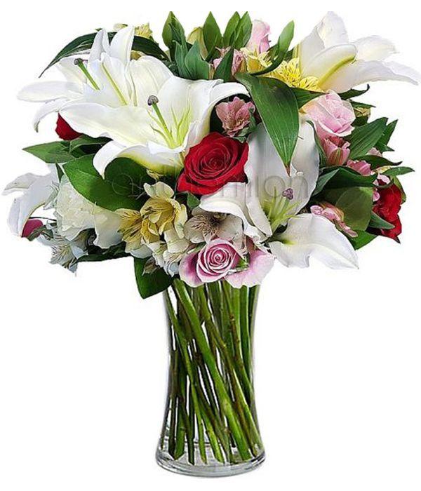 Μαίρη, με πανέμορφα λουλούδια