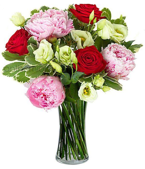 Παιώνιες και τριαντάφυλλα