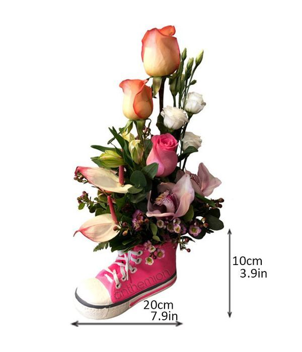 Κεραμικό παπουτσάκι με λουλούδια για κοριτσάκι
