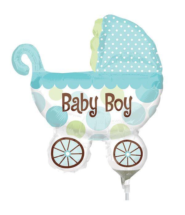 Μπαλόνι καροτσάκι μωρού μπλε 25εκ.