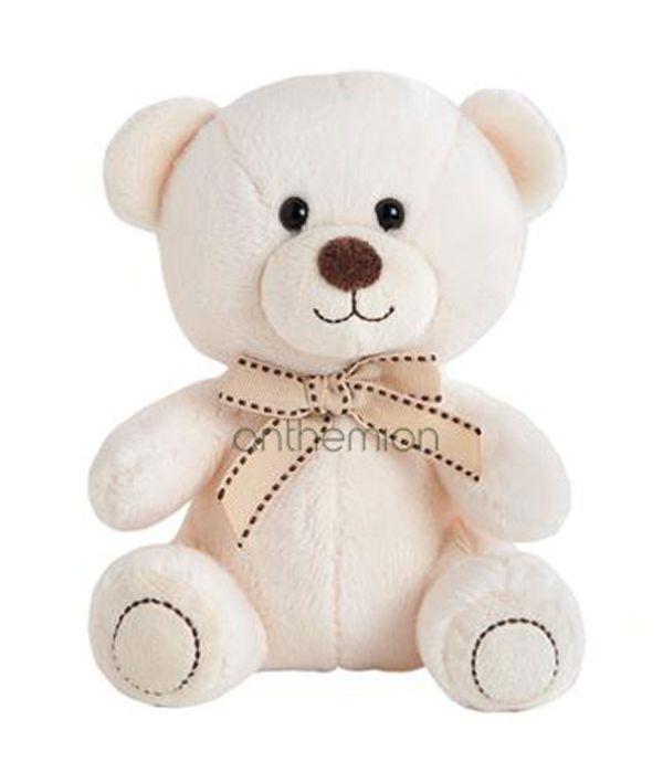 Λευκό αρκουδάκι με φιόγκο