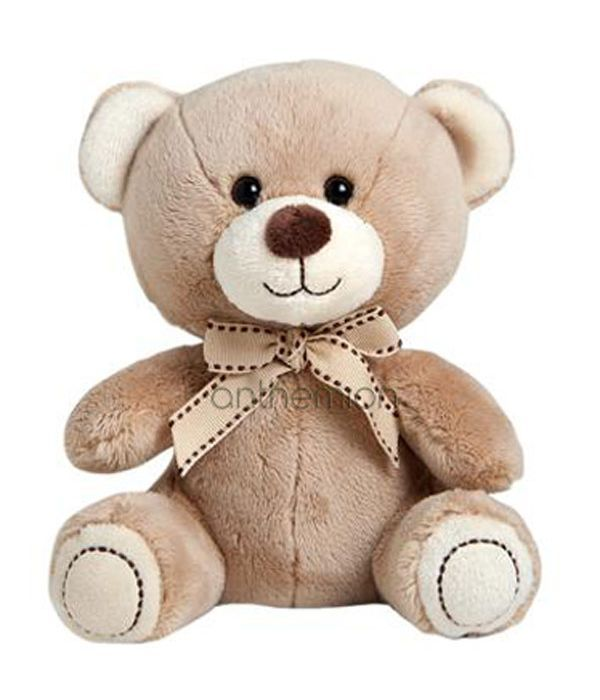 Μπεζ αρκουδάκι με φιόγκο