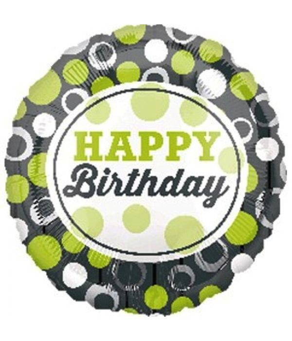 Happy birthday foil balloon 43cm.