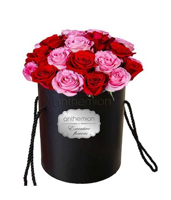 Κόκκινη και ροζ ομορφιά σε κουτί
