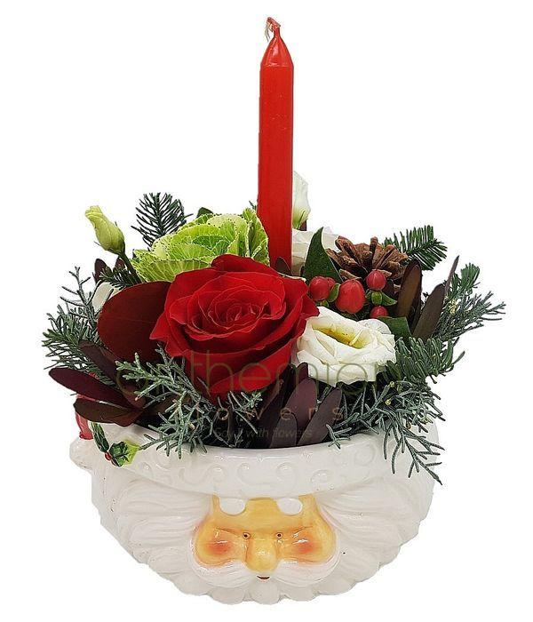 Σύνθεση Άγιος Βασίλης με κερί