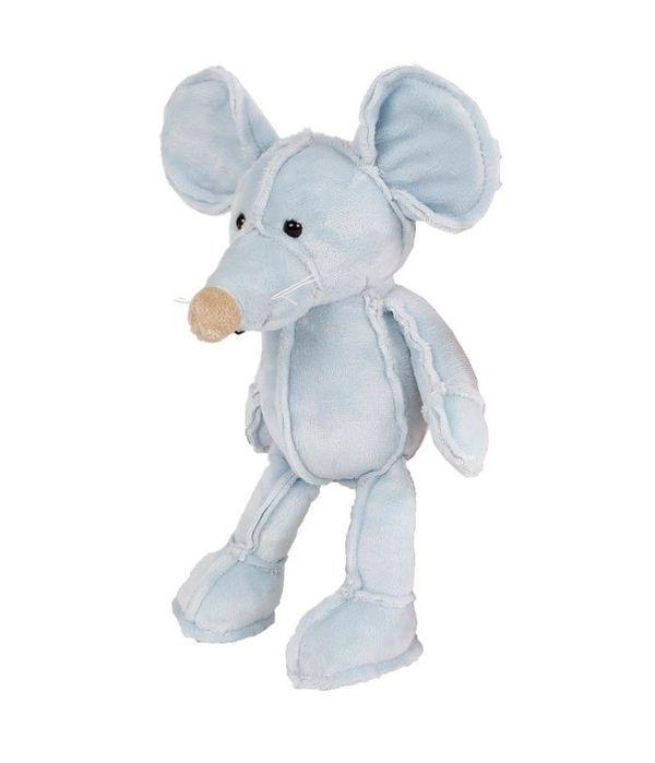 Light blue mouse teddy bear 25cm.