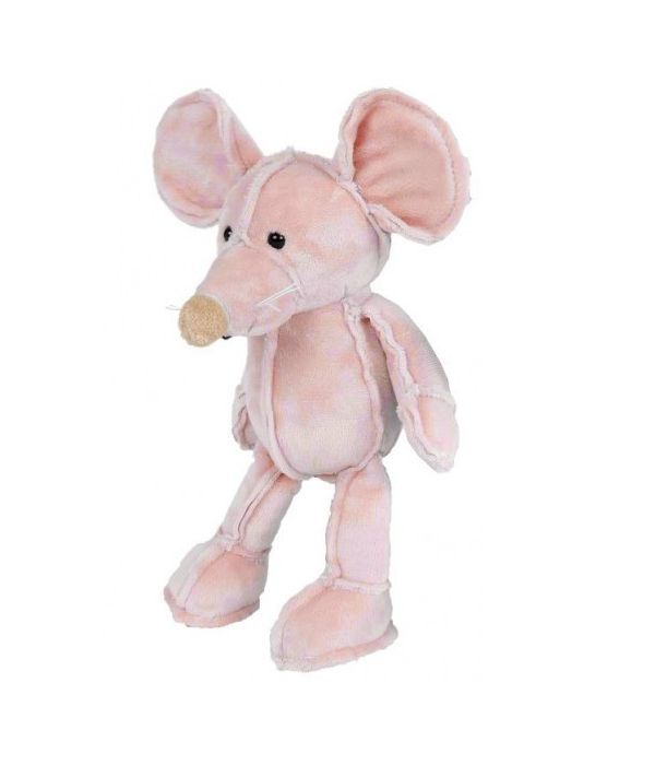 Pink mouse teddy bear 25 cm.