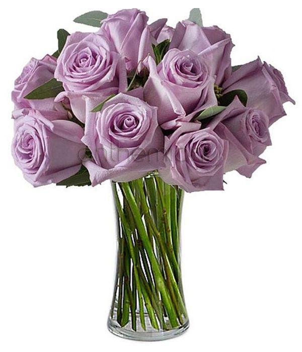 Lilac Roses in a bouquet