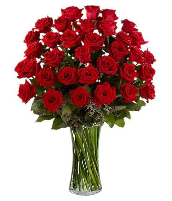 Μπουκέτο με 36 κόκκινα τριαντάφυλλα