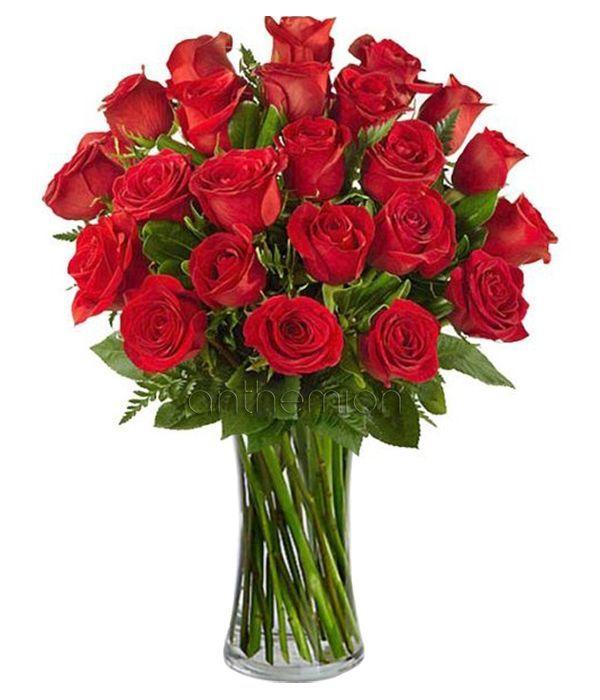 Κλασικό μπουκέτο με 24 τριαντάφυλλα