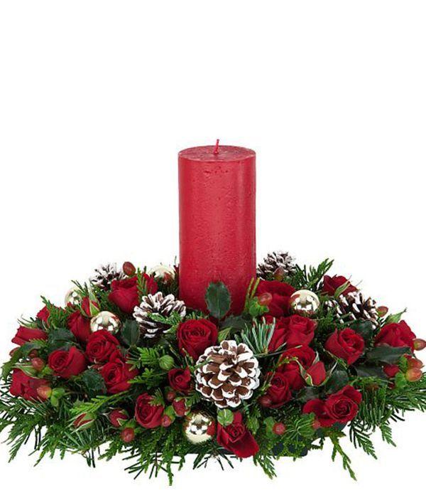 Γιορτινή σύνθεση με κερί