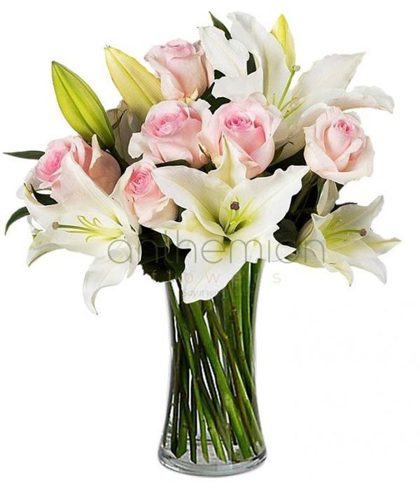 Lovely lilies and roses