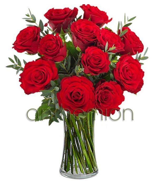 Μπουκέτο με 12 κόκκινα τριαντάφυλλα | Αποστολή Λουλουδιών