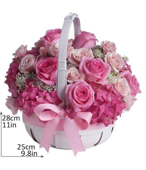 Σύνθεση σε ροζ και φούξια τόνους