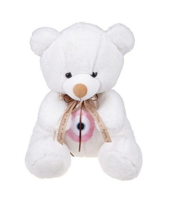 Αρκουδάκι με ροζ ματάκι 18εκ