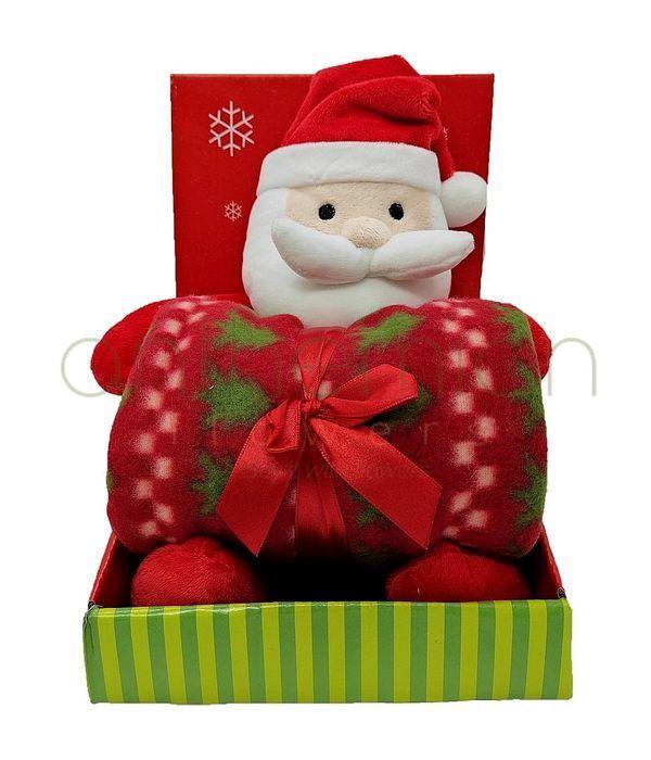 Αρκουδάκι Άγιος Βασίλης 25 εκ. με κουβερτάκι