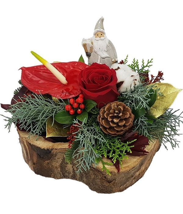 Χριστουγεννιάτικος κορμός δέντρου